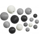 Knorr Wooden Bead Mix Black-White Set, 20 pieces