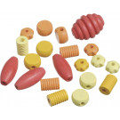 Knorr Wooden Bead Mix Shapes Yellow, Orange, Red Set, 20 pieces