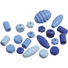 Knorr Wooden Bead Mix Shapes Blue Set, 20 pieces