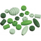 Knorr Wooden Bead Mix Shapes Green Set, 20 pieces