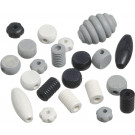 Knorr Wooden Bead Mix Shapes White, Black Set, 20 pieces
