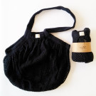 Tierra Verde String Bag from organic cotton thick, black