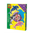 SES Creative Iron On Beads Dolphin Set