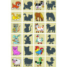 DETOA Wooden Children Memo Animals & Shadows, 24 pieces