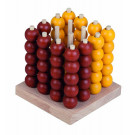 DETOA Wooden Game Tic Tac Toe 3D