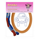 Beruska Kids' Embroidery Set Oval Happy Car