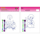 Beruska Kids' Embroidery Set Middle Angel & Candle