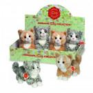 Teddy Hermann Soft toy cat grey, 18cm
