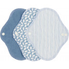 Imse Vimse Cloth Menstrual Pads Panty Liners, 3 pieces Denim