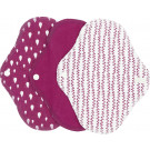Imse Vimse Cloth Menstrual Pads Panty Liners, 3 pieces Sangria