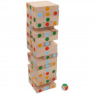 MIK Wooden Tumbling Jenga Tower Mikado Game Colored