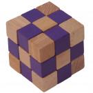 MIK Wooden Brain Teaser Magic Cobra Cube Purple