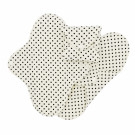 Imse Vimse Cloth Menstrual Pads Panty Liners, 3 pieces black dots
