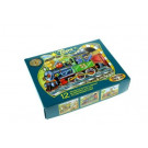 TOPA Wooden Picture Blocks Happy Machines, 12 cubes