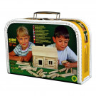 Walachia Wooden Construction Set VARIO Suitcase, 91 pieces