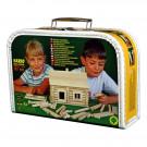 Walachia Wooden Construction Set VARIO Suitcase, 91 pieces