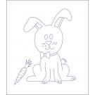 Beruska Kids' Embroidery Set Pre-printed 20x15 Rabbit