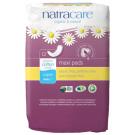 Natracare Organic Cotton Maxi Pads Super, 12 Pieces