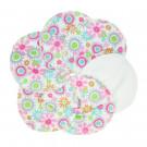 Imse Vimse Nursing Pads Organic Cotton, 3 pairs Flowers