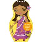 Oblékáme indické panenky Ašna maľovanky a nálepky