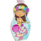 Obliekame tahitské bábiky Mohea maľovanky a nálepky