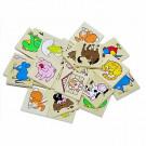 DETOA Wooden Children Memo Animals, 24 pieces
