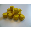 DETOA Wooden dice 16mm yellow, 1pc