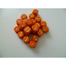 DETOA Wooden dice 16mm orange, 1pc