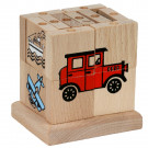 MIK Wooden Assembling Cube Vehicles, 20 pieces