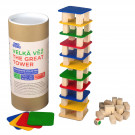 MIK Wooden Tumbling Jenga Tower Mikado Game Big