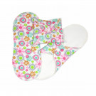 Imse Vimse Cloth Menstrual Pads Panty Liners, 3 pieces flower print