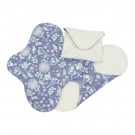 Imse Vimse Cloth Menstrual Pads Panty Liners, 3 pieces garden print
