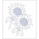 Beruska Kids' Embroidery Set Pre-printed 20x15 Sunflowers