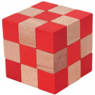 MIK Wooden Brain Teaser Soma Cube Red