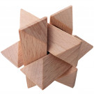 MIK Wooden Brain Teaser Star