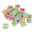 DETOA Wooden Children Memo Dinosaurs, 24 pieces