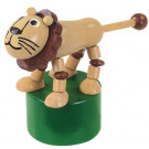 DETOA Wooden Push Up Toy Lion