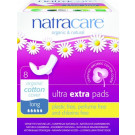 Natracare Organic Cotton Ultra Extra Pads Long, 8 Pieces