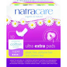 Natracare Organic Cotton Ultra Extra Pads Super, 10 Pieces