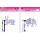 Beruska Kids' Embroidery Set Middle Rabbit & Elephant