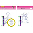 Beruska Kids' Embroidery Set Large 21 Angel with Candle