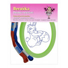 Beruska Kids' Embroidery Set Oval Easter Bunny